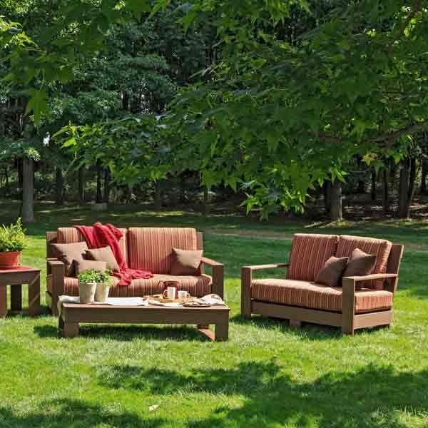 Amish Patio Loveseats and Sofas