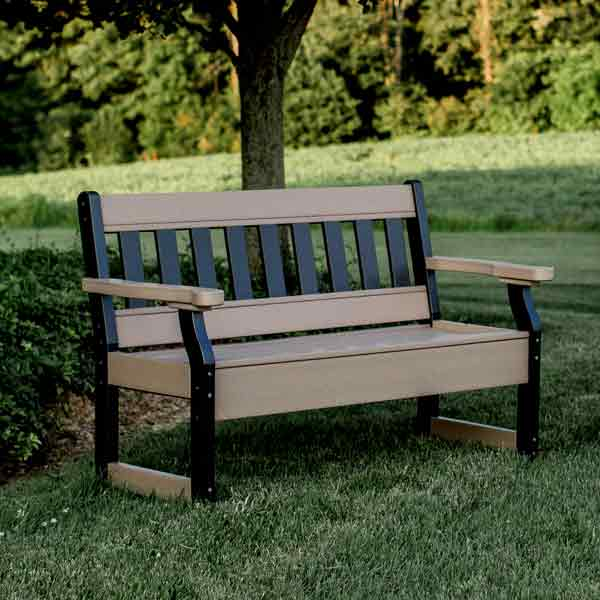 Brilliant Amish Patio Benches Pinecraft Com Outdoor Benches Park Andrewgaddart Wooden Chair Designs For Living Room Andrewgaddartcom