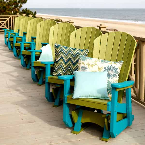 Amish Patio Glider Chairs